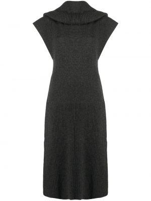 Трикотажное платье миди - серое Kenzo