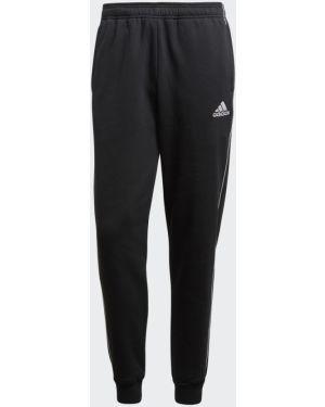 Спортивные черные теплые спортивные брюки с манжетами Adidas