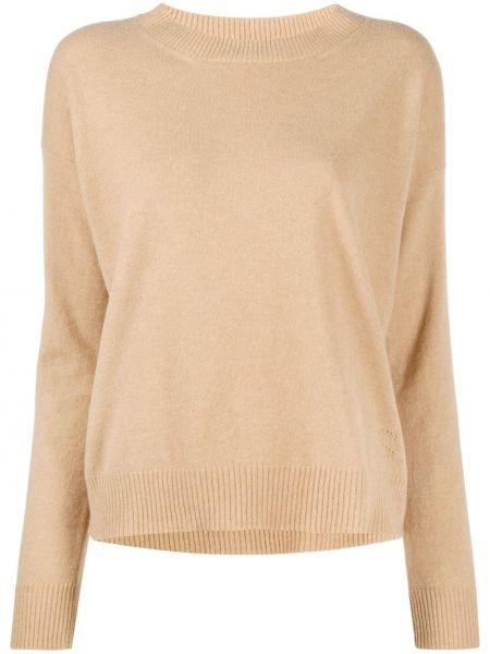 Кашемировый вязаный свитер с круглым вырезом круглый Twin-set