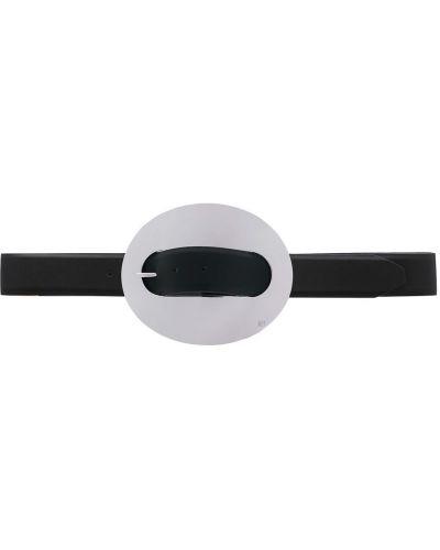 Черный ремень металлический с пряжкой Paco Rabanne
