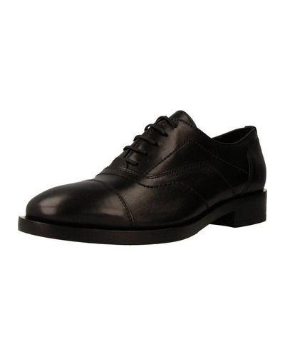 Czarny buty brogsy Geox