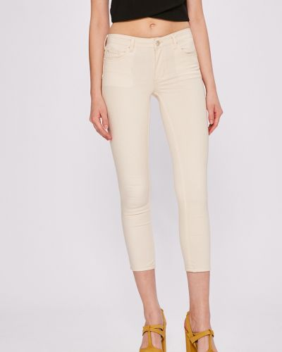 Бежевые джинсы-скинни Silvian Heach