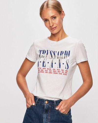 Футбольная футболка с пайетками Trussardi Jeans