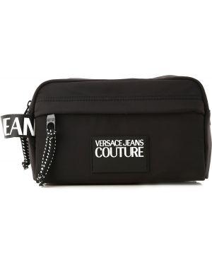 Biała kosmetyczka skórzana Versace Jeans Couture
