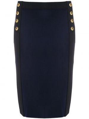 Niebieska spódnica ołówkowa z wysokim stanem z wiskozy Givenchy