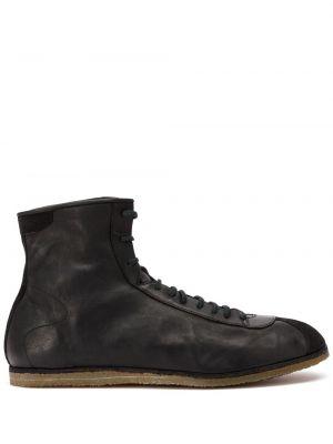 Buty skórzane kołatka zasznurować Guidi
