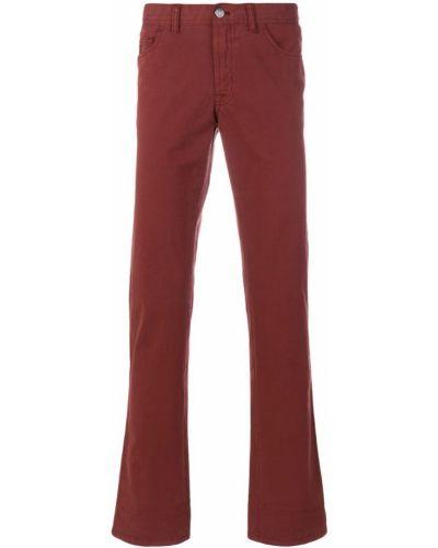 Красные классические брюки Brioni