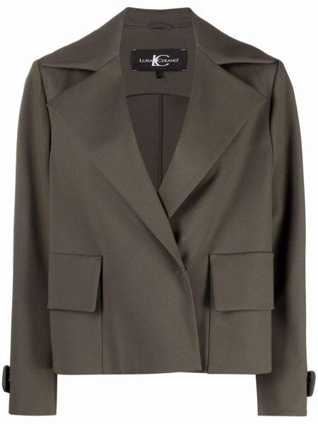 Зеленый пиджак с лацканами Luisa Cerano