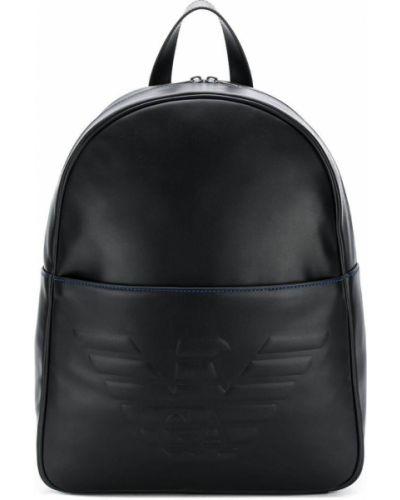 Рюкзак кожаный на молнии Emporio Armani