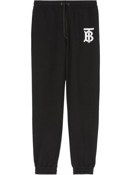 Bawełna bawełna spodni czarny sportowe spodnie Burberry