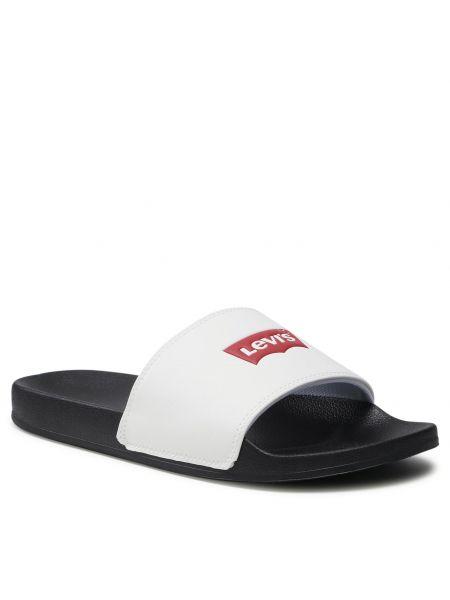 Sandały skórzane - białe Levi's