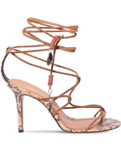 Кожаные кружевные стринги на шнуровке Isabel Marant