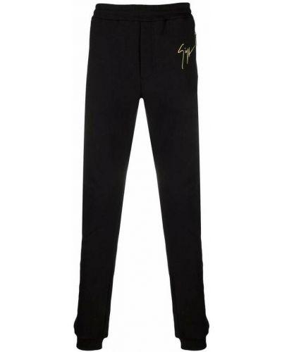 Czarne spodnie Giuseppe Zanotti