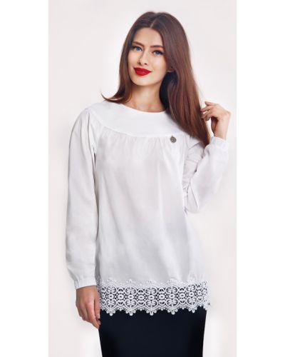 Белая блузка классическая Helena