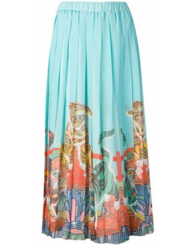 Плиссированная юбка с завышенной талией с поясом Ultràchic
