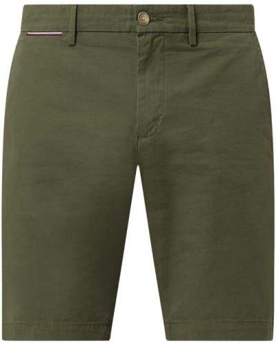 Zielone szorty chinosy bawełniane Tommy Hilfiger