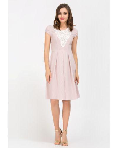 Ажурное приталенное платье с открытой спиной круглое Remix