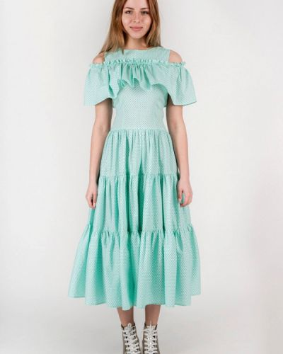 Бирюзовое платье Vergans