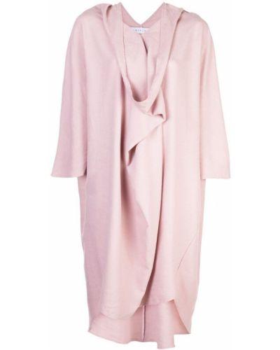 Свободное розовое расклешенное платье мини на молнии The Celect