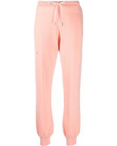 Кашемировые розовые спортивные брюки с карманами Barrie