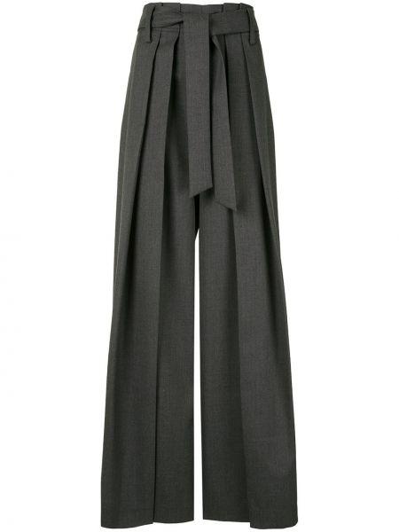 Серые свободные брюки с завязками с поясом свободного кроя Goen.j