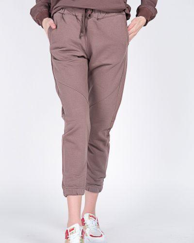 Хлопковые коричневые спортивные брюки Samo