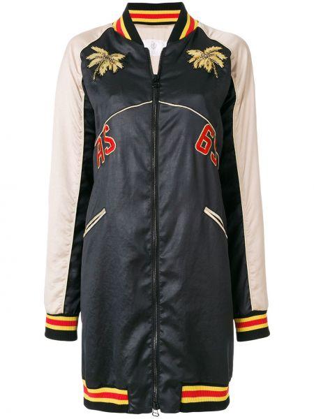 Черное пальто с карманами на молнии As65