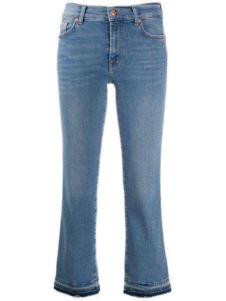 Укороченные джинсы на пуговицах с карманами 7 For All Mankind