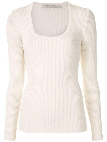 Блузка с вырезом - белая Reinaldo Lourenço
