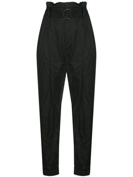 Черные брюки узкого кроя из вискозы с потайной застежкой Jason Wu Collection