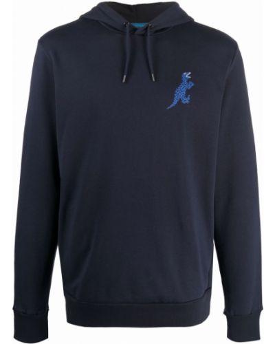 Bluza z nadrukiem z printem - niebieska Ps Paul Smith