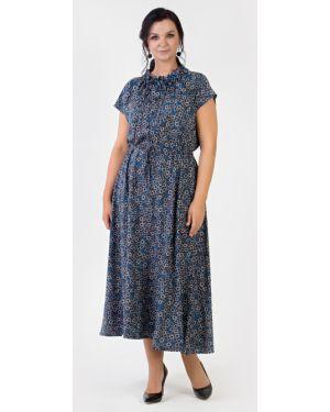 Свободное летнее платье на пуговицах свободного кроя из вискозы Filigrana