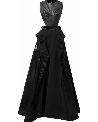 Czarna sukienka bez rękawów Maticevski