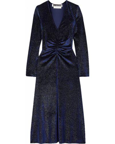 Sukienka midi z aksamitu Rotate Birger Christensen