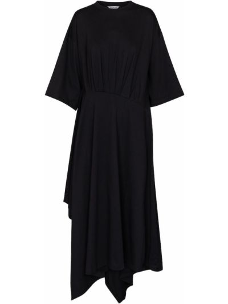 Платье рубашка - черное Balenciaga
