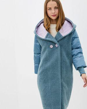 Пальто демисезонное бирюзовый Grafinia