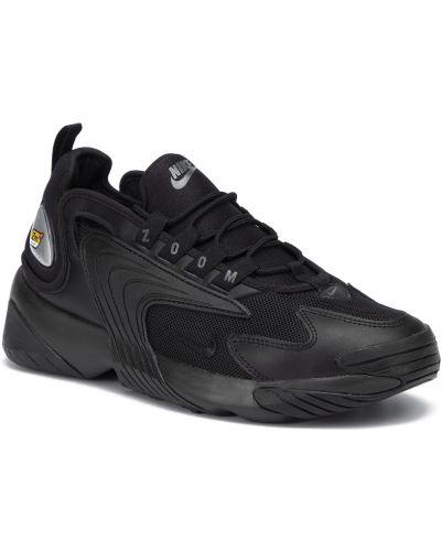 Czarny skórzany buciki Nike