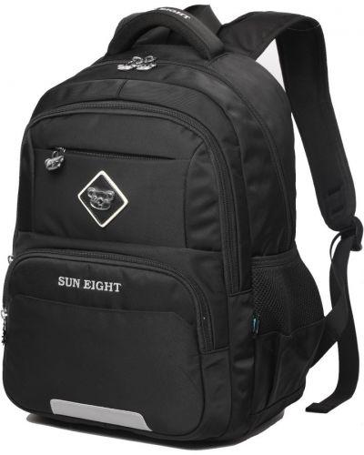 Мягкий черный школьный рюкзак для ноутбука Sun Eight