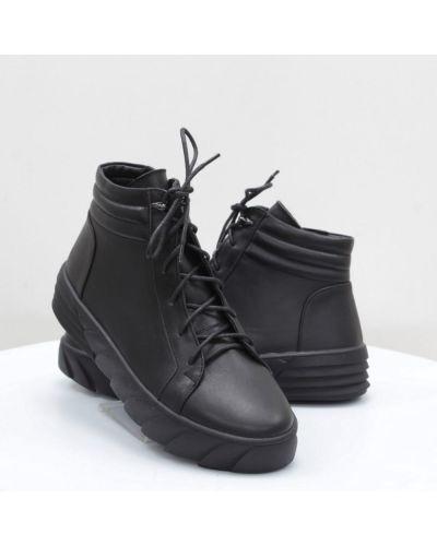 Кожаные ботинки - черные Yu.g