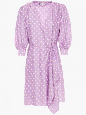Платье мини атласное - сиреневое Paul & Joe