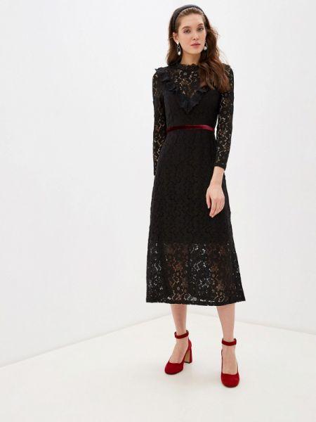Вечернее платье осеннее черное Cavo