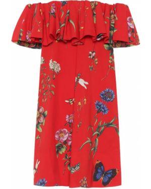 Платье мини в рубчик Oscar De La Renta