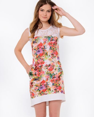 Трикотажное платье в цветочный принт Modniy Oazis