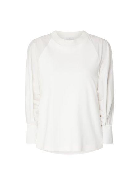 Biała bluza bawełniana z raglanowymi rękawami Riani