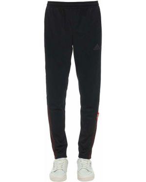 Czarne spodnie z siateczką Adidas Football