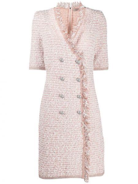 Шерстяное облегающее розовое платье мини D.exterior