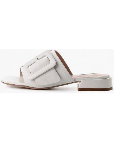 Белые кожаные сабо Basconi