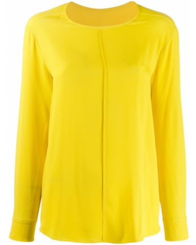 Блузка с длинным рукавом желтый Tela