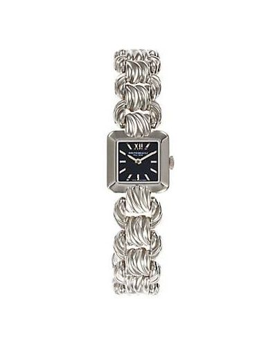 Серебряные кварцевые часы квадратные с кварцем Bruno Magli