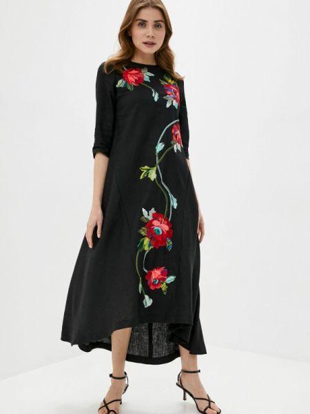 Платье прямое черное Yukostyle
